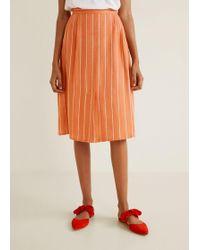 96e7224a8b Lyst - Women's Mango Knee-length skirts On Sale