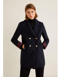 Mango - Double-breasted Coat - Lyst
