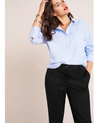 Violeta by Mango - Soft Straight Trousers - Lyst