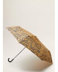 Mango - Tiger Print Umbrella Burnt Orange - Lyst