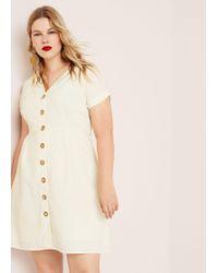 Violeta by Mango - Buttones Cotton Dress - Lyst