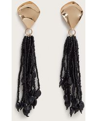 Violeta by Mango - Micro Beads Tassel Earrings - Lyst