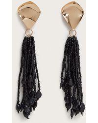 Violeta by Mango - Micro Beads Tassel Earrings - Lyst