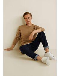 Mango - Hoodless Cotton Sweater - Lyst