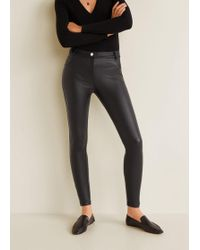 Mango - Glossed-effect Leggings - Lyst