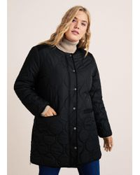 Violeta by Mango - Quilted Lining Coat - Lyst