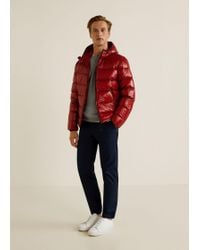 Mango - Quilted Down Anorak - Lyst