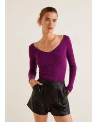 Mango - Ribbed Knit Sweater - Lyst