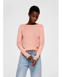 Mango - Back Vent Sweater - Lyst