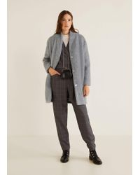 Mango - Unstructured Oversize Coat - Lyst