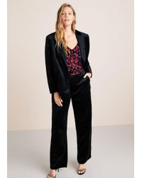 Violeta by Mango - Flared Velvet Trousers - Lyst