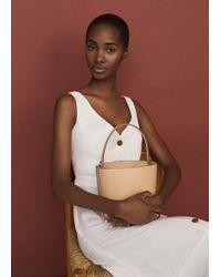 Mango - Leather Bucket Bag - Lyst