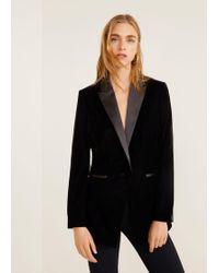 Mango - Velvet Suit Blazer - Lyst