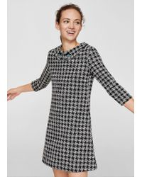 Mango - Jewel Houndstooth Dress - Lyst