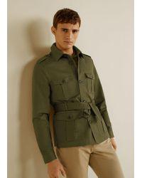 Mango - Belt Cotton Field Jacket - Lyst