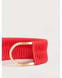 Violeta by Mango - Leather Mixed Bracelet - Lyst