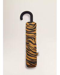 Mango - Tiger Print Umbrella - Lyst