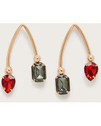 Violeta by Mango - Bicolor Pendant Crystal Earrings - Lyst