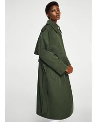 Mango - Military-style Trench - Lyst