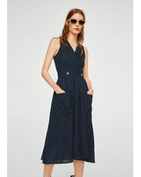 Mango - Pinstripe Print Dress - Lyst