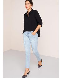 Violeta by Mango - Super Slim-fit Vania Jeans - Lyst