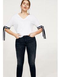 Violeta by Mango - Slim-fit Push Up Mariah Jeans - Lyst