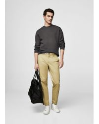 Mango - Contrast Trims Chinos - Lyst