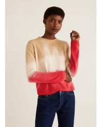 Mango - Tricolor Knit Sweater - Lyst