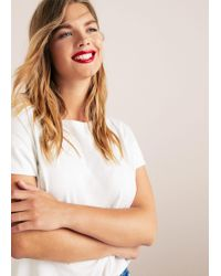 Violeta by Mango - Essential Cotton-blend T-shirt - Lyst