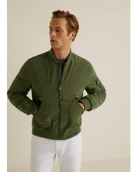 Mango - Quilted Lining Bomber Jacket - Lyst