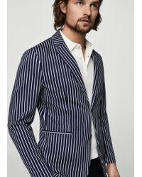 Mango - Slim-fit Striped Cotton Blazer - Lyst