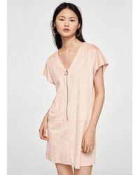 Mango - Zipped Dress - Lyst