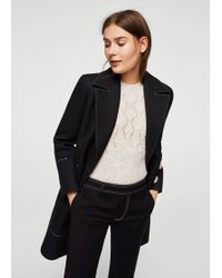 Mango - Cropped Button Trousers - Lyst