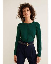 Mango - Button Knit Cardigan - Lyst