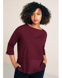 Violeta by Mango - Buttoned Cotton T-shirt - Lyst