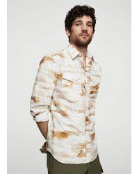 Mango - Regular-fit Camouflage Print Shirt - Lyst