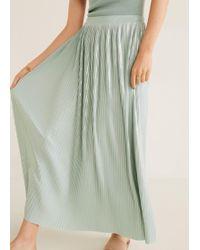 11ac24c48 Mango Pleated Midi Skirt in White - Lyst