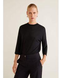 Mango - Flecked T-shirt - Lyst