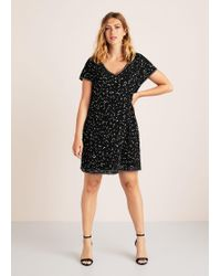 Violeta by Mango - Sequin Embroidered Dress - Lyst