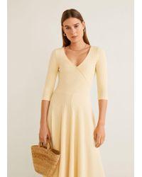 8c9b95aebe Lyst - Mango Linen-blend Midi Dress in Natural