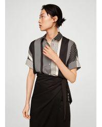Mango - Mixed Print Shirt - Lyst