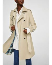 Mango - Double Breasted Trench - Lyst