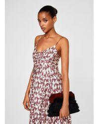Mango - Contrasting Print Dress - Lyst