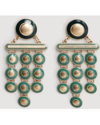 Mango - Metal Pendants Earrings - Lyst