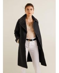 Mango - Faux Shearling-lined Coat - Lyst