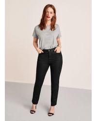 Violeta by Mango - Coated Slim-fit Carmen Jeans - Lyst