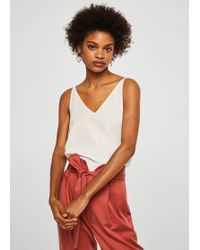 Mango - Embroidered Panel Top - Lyst