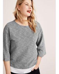 Violeta by Mango - Shirt Hem Sweatshirt - Lyst