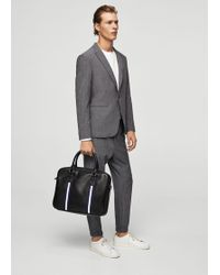 Mango - Pebbled Briefcase - Lyst