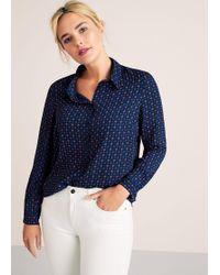 Violeta by Mango - Printed Flowy Shirt - Lyst